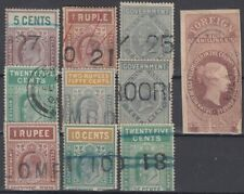 F-EX14786 CEYLON SRI LANKA REVENUE ENGLAND UK STAMPS LOT. TELEGRAPH.