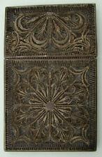 ORIGINAL ANTIQUE VICTORIAN STERLING SILVER FILIGREE CARD CASE ca 1840