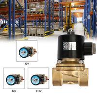 "12V/24V/220V Electric Solenoid Valve Water Air 3/4"" Brass Normal Closed N/C New"