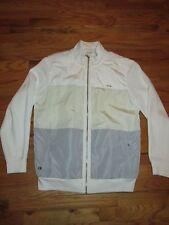 Calvin Klein Slim Fit NEW Dressy Zip Front Jacket White Ivory Gray Men's L T3J