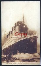 THE ILL FATED SS TITANIC SHIP 1912 VINTAGE POSTCARD COPY