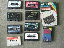 10 x Sinclair ZX Spectrum Games Cassettes Scrabble Rifle Range Job Lot Bundle
