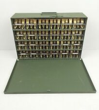 NEW (480) Brass Military Laundry Pins Numbered 1-24 in Green Case CHOICE: B-H