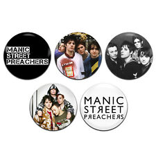 5x Manic Street Preachers Band Rock Punk Glam 25mm / 1 Inch D Pin Button Badges