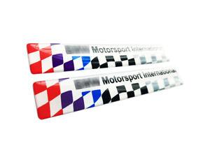 PAIR of BMW M3 LTW Compatible Door Moulding Emblem Badge 51132264146 Violet flag