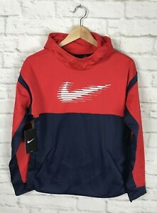 NEW Nike Therma Youth Red & Blue Hoodie Size XL