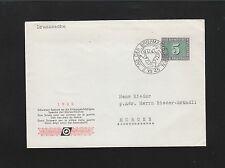 Switzerland 1945 Druchsache Stamp Day Bear Cancel Bern Cover 5q