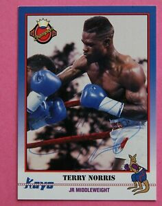 Boxing: Terry Norris Autographed Trade Card