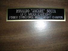 "RONALDO ""JACARE"" SOUZA (UFC) NAMEPLATE FOR SIGNED TRUNKS DISPLAY/PHOTO/PLAQUE"