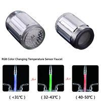 RGB Farbwechsel Temperaturfühler Wasserhahn Intelligente Wasserdüse Tap Adapter