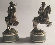 Franklin Mint Gettysburg Civil War Chess Piece Gold & Silver Confederate Knights