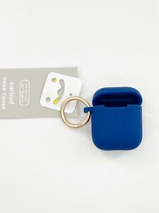 Heyday Earbud Case Cover Clip Space Blue Fits AirPods Gen 1 & 2 Silicone New