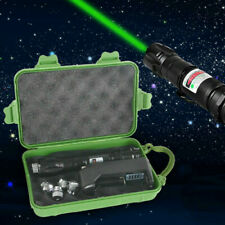 50miles Green 1MW 532NM Laser Pointer Pen Adjustable Focus Lazer With Charger UK