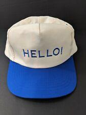 Vintage Hat Snapback HELLO