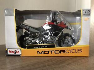 BMW R 1200 GS MOTORCYCLE BRAND NEW 1:12 SCALE REPLICA TOY BIKE MODEL BY MAISTO