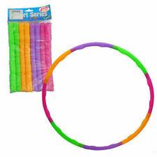Kids Adjustable Plastic Hula Hoop Multicolored Ring Sports Play Gym Fitness