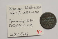 GERMANY BRUNSWICK WOLFENBUTTEL PFENNIG 1774 B12 #D8164