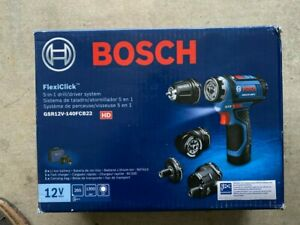 BRAND NEW Bosch GSR12V-140FCB22 FlexiClick 12V MAX 5-in-1 Drill/Driver System
