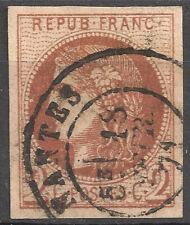 FRANCE CERES Bordeaux N°40Bd brun-rouge foncé càd T17 Nantes cote 425€  B/TB