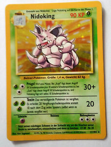 Nidoking holo 11/102 Pokemon Card (german)