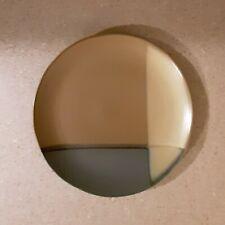 "Sango Gold Dust Green 10.75"" Round Dinner Plate 5040 Earthy Geometric Pattern"