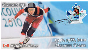 CA17-030, 2017, Canada 150, 76-88-2010 Olympic Games, Day of Issue, FDC