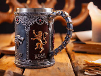 Game of Throne Swords Tanker Stainless Steel Resin 3D Mug Gothic Beer  Wine Cup