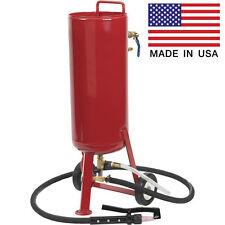 Soda & Abrasive Blaster - 6.7 Gallons Cap - Industrial - 15 CFM - Gun & Hose