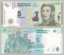 Argentinien / Argentina 5 Pesos 2015 p359 unz.
