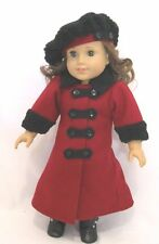 "Doll Clothes Fit AG 18"" Coat Hat Rebecca Victorian Made For American Girl Dolls"