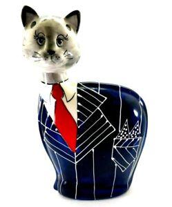 "Rare Turov Ceramic Art Limited Edition Cat Gala Tuxedo  14"" Signed"