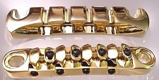 ULTIMATE BASS GUITAR BRIDGE TAILPIECE UNIT - GOLD
