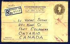 1960 Edinburgh Scotland Registered Letter 1'3 Cover to Port Colborne Ontario