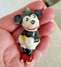1930's Walt Disney Minnie Mouse Bisque Figure Shelf Sitter Japan