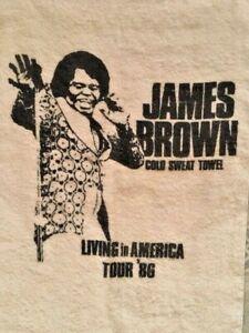 "JAMES BROWN ""Cold Sweat towel"" 1986 Tour Living in America Unused"