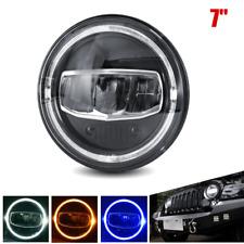 "7"" 60W 6000K LED Headlight Assembly Turn Lamp Hi/Lo Beam Fit For Jeep Wrangler"