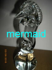 Seahorse Figurine, Artist Glass Crystal,6in,Fantasy,Vinta ge Older,Seamless Solid