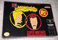Super Nintendo - Beavis And Butthead Video Game - Box Only
