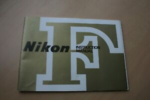 NIKON F MODEL SLR 35MM CAMERA OWNERS INSTRUCTION MANUAL-NIKON-FROM 1970