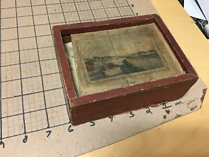 original  mid 1800's small SWISS paper litho Wood Block Puzzle set - very scarce