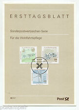 ALLEMAGNE FEDERALE RFA, 1997, FDC, MOULINS, TP 1780 1781 1782, DOCUMENT 1° JOUR