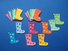 Quickutz Wellies wellington boots die cut shapes 32 pieces