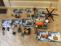 lego arctic expedition Sets 60033,60034,60036,60032 (99% + Completed Sets)
