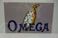 "OMEGA WATCH OFFICIAL DEALERSHIP SIGN. 10.5 HIGH"" X 16"" WIDE. WONDERFUL COLOR!"
