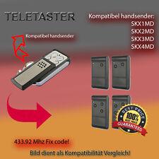 Handsender für TELETASTER Garagentorantriebe 433,92 MHz SKX2MD,SKX4MD Funksender