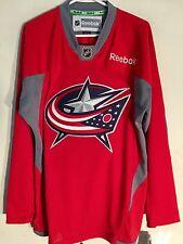 Reebok Practice  NHL Jersey Columbus Blue Jackets Team Red sz M