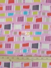COOL SPOT SPOOLS OF THREAD PINK BY ALEXANDER HENRY COTTON FABRIC FH-1665