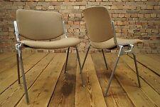 Set 4x Vintage Sedia impilabile Anni '60 sedia Lounge CASTELLI Italia Mid