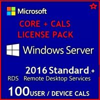 Microsoft Windows Server 2016 STANDARD + 50 USER CALs + 50 DEVICE CALS