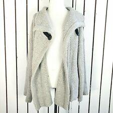 Eileen Fisher chunky knit cardigan gray size XL